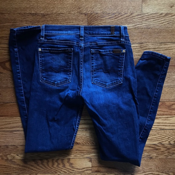 7 For All Mankind Denim - 7 for all Mankind blue skinny jeans sz 27